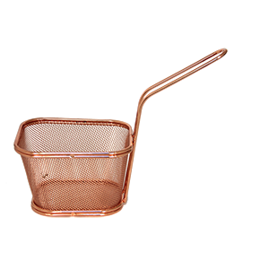 Rectangular metal basket 10.5cm