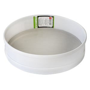 White plastic sieve with steel mesh 26cm