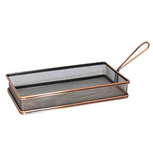 Rectangular metal basket 26cm