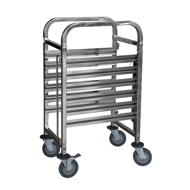 Rack trolley for gastronorm containers 6 shelves