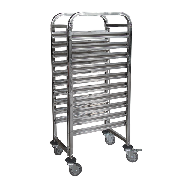 Rack trolley for gastronorm containers 10 levels