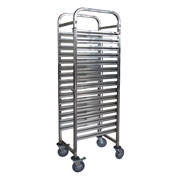 Rack trolley for gastronorm containers 5 levels