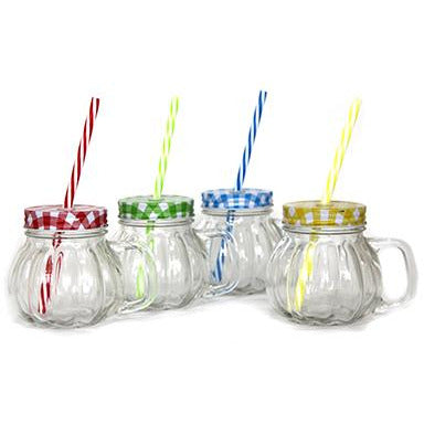 Glass with straw 350ml