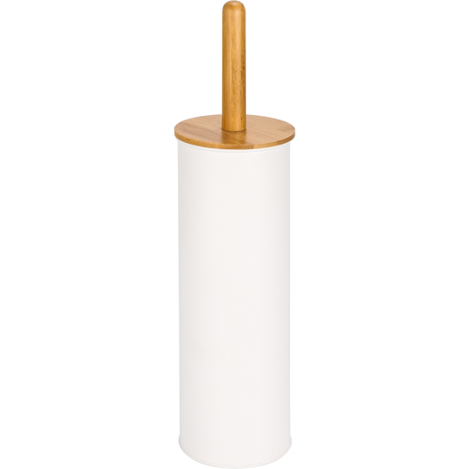 Toilet brush with bamboo handle white 38.4cm
