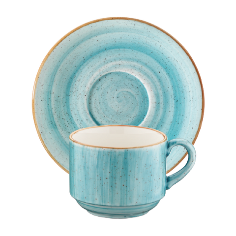 Aqua cup with saucer 210ml