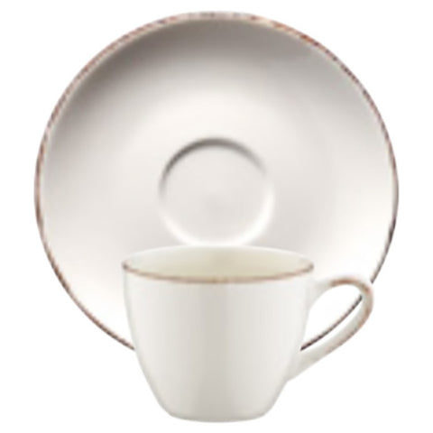 Retro cup with saucer 80ml | Pack of 6