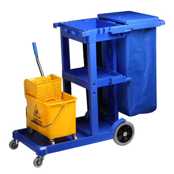 Janitor cart for cleaning equipment 121cm