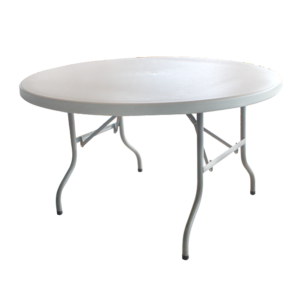 Round folding catering table 128x73.5cm