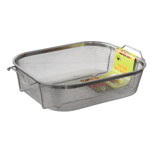 Rectangular deep strainer 37cm