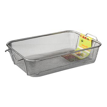 Rectangular shallow strainer 42cm