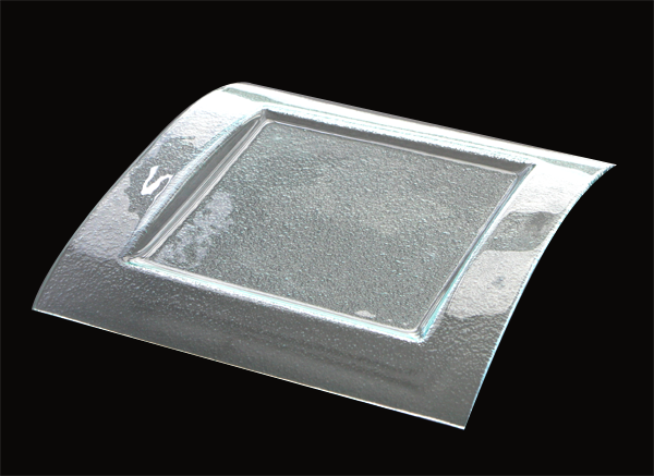 Square clear glass plate 31x31cm