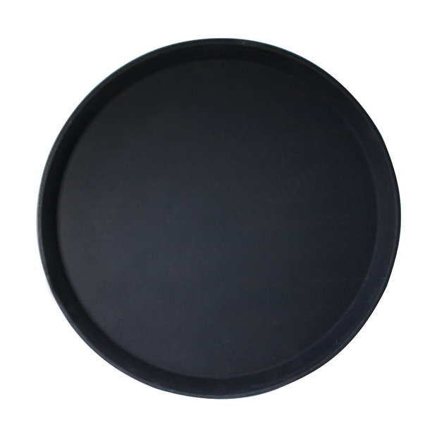 Round serving tray black 35cm