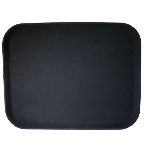 Rectangular serving tray black 45.7cm