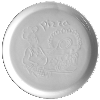 Embossed pizza plate 30cm.