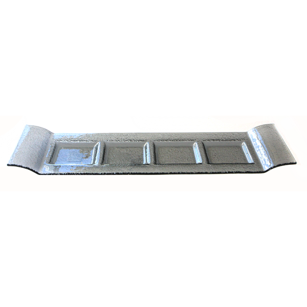 Rectangular smoked glass plate with 4 parts 14x48cm