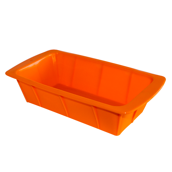 Silicone rectangular cake pan orange