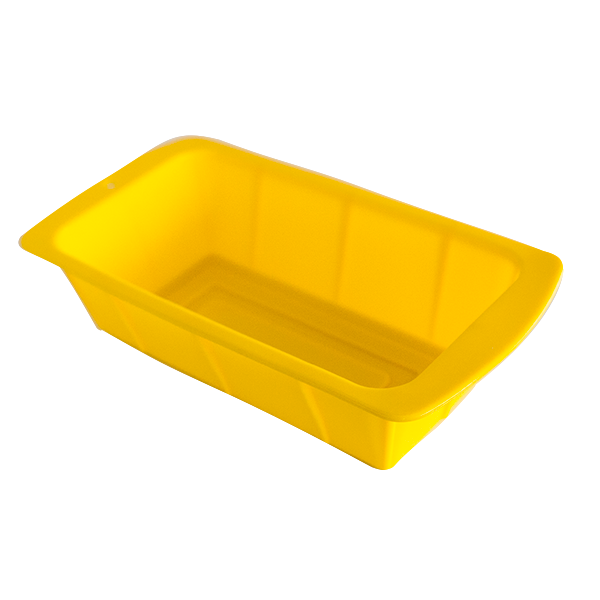 Silicone rectangular cake pan yellow