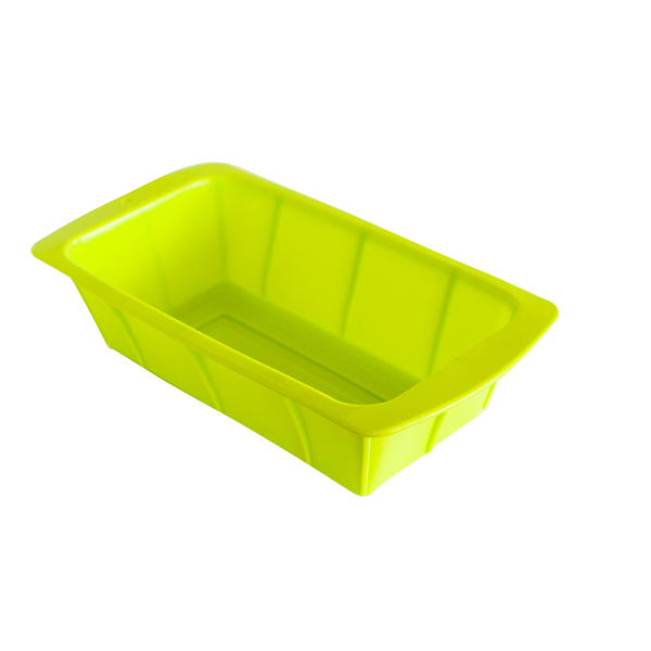 Silicone rectangular cake pan green