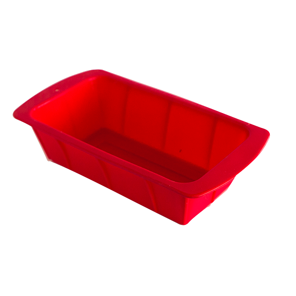 Silicone rectangular cake pan red