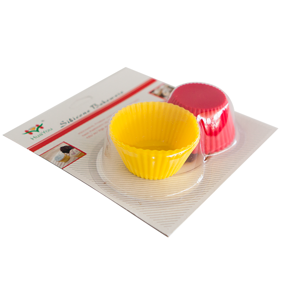 Set of 6 silicone round cupcake cups