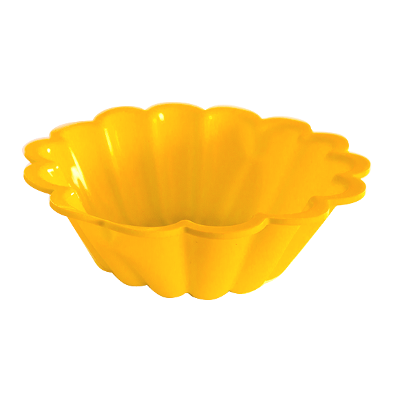 Silicone yellow cake pan