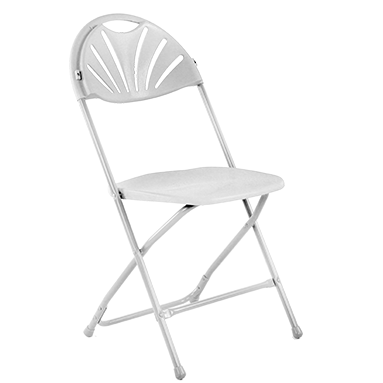 Folding plastic chair white 39cm