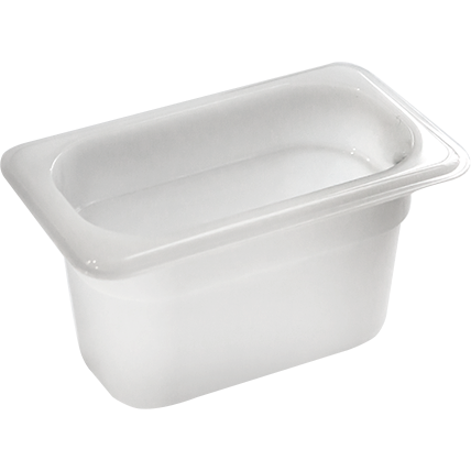 GN Polypropylene container 1/9 height 65mm