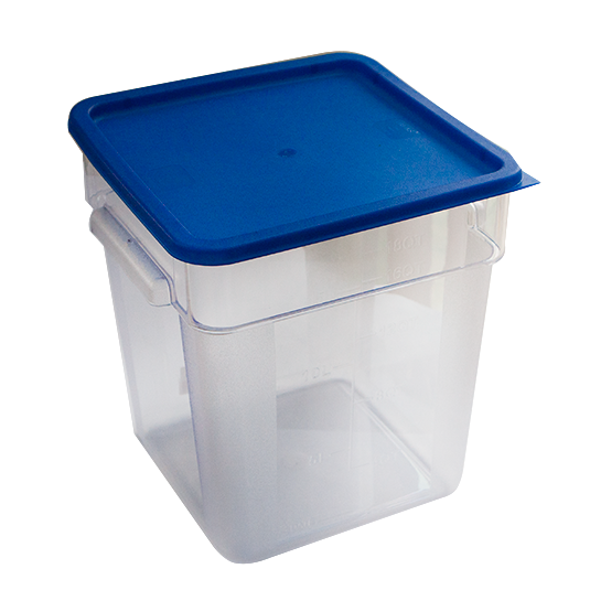 Square storage container with lid 18 litres