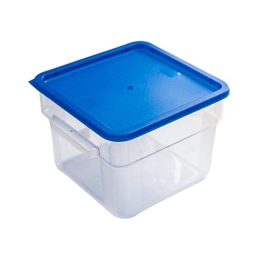 Square storage container with lid 12 litres