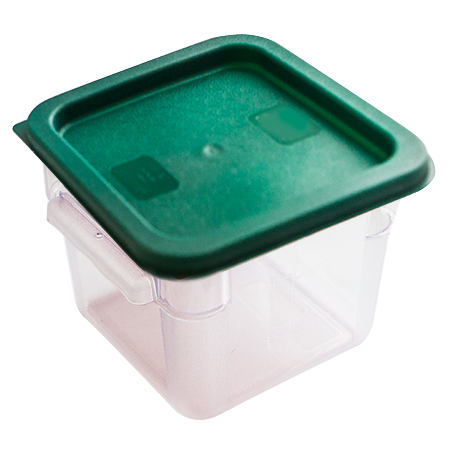 Square storage container with lid 4 litres