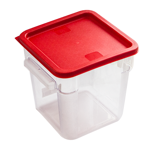 Square storage container with lid 8 litres