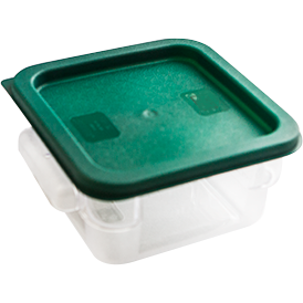 Square storage container with lid 2 litres