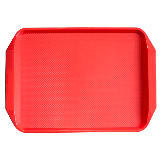 Polypropylene non slip serving tray Red 42.5cm