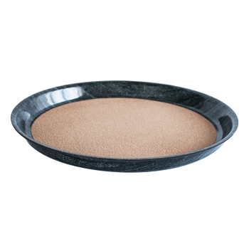 Round deep laminated tray with cork surface Granite 36cm
