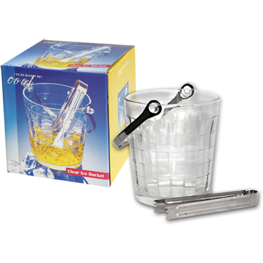 "Glass ice bucket ""Karat"" 870ml"