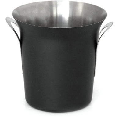 "Stainless steel ice bucket ""Royal"" black 13.5cm"