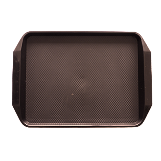 Polypropylene non slip serving tray Brown 42.5cm