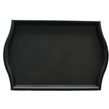 Polypropylene non slip serving tray Black 45.5cm