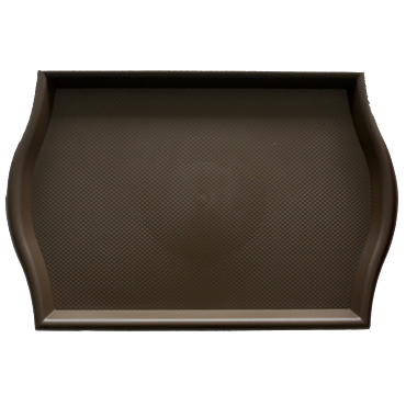 Polypropylene non slip serving tray Brown 45.5cm