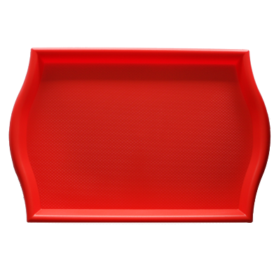 Polypropylene non slip serving tray Red 45.5cm