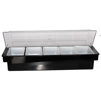 Bar organiser with five sections