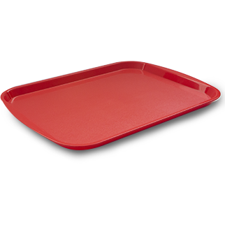 Plastic serving tray red 46cm
