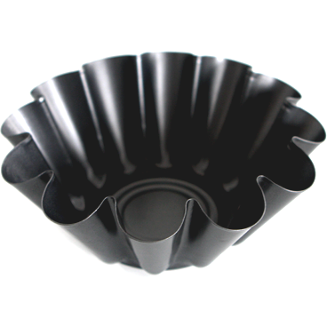 Round fluted metal cake pan 23сm
