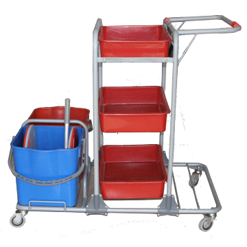 Janitor trolley for cleaning equipment