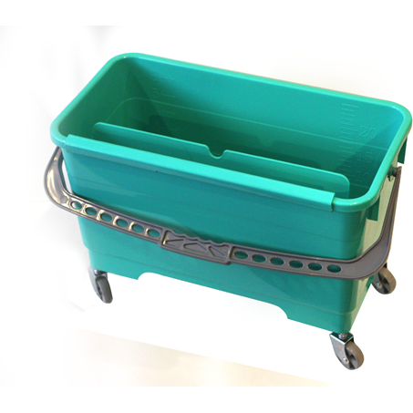 Rectangular bucket with wheels 20 litres
