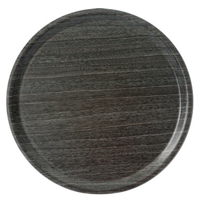 Round laminated tray with non-slip surface Granite 36cm