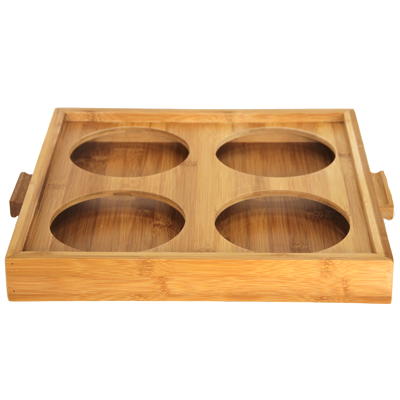 Bamboo stand for four jars 38cm
