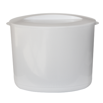 Double wall insulated acrylic ice bucket with lid white 10 litres