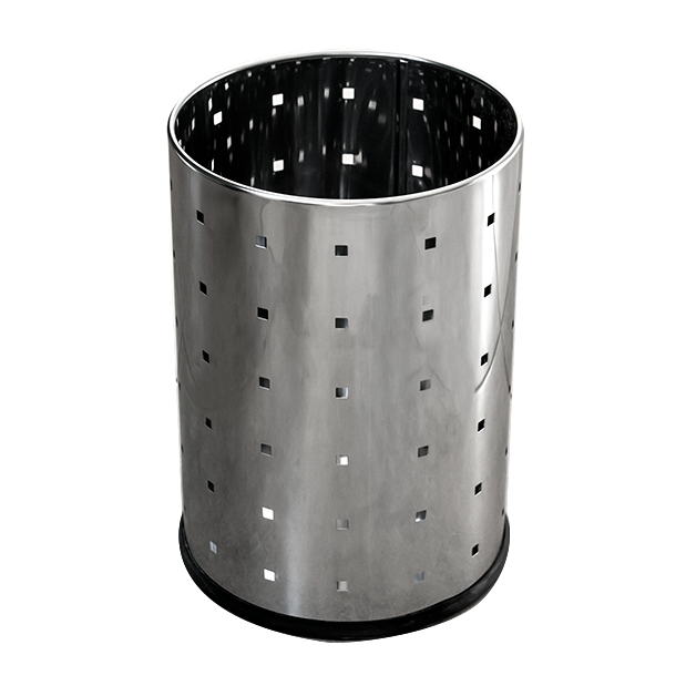 Round metal trash can 12 litres