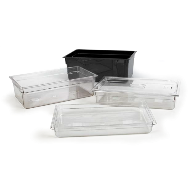 Polycarbonate gastronorm storage container GN 1/1 black 25.6 litres